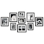 Swing Design™ 9-Piece Frame Gallery in Black