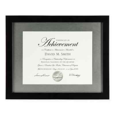 PhotoGuard 8.5-Inch X 11-Inch Wood Document Frame in Black