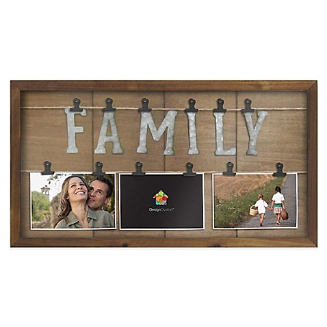 Marrone 3 photo family clip collage bed bath beyond for Photo clip wall frame