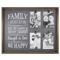 Fetco Home Décor™ Abbott 4-Photo Family Collage Frame