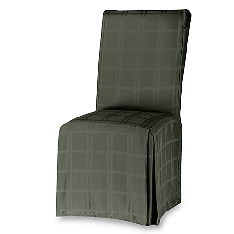 microfiber dining room chair cover in peridot bed bath beyond