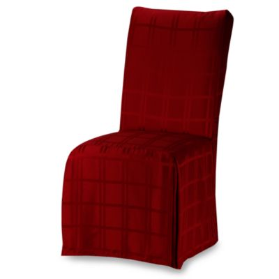 OriginsTM Microfiber Dining Room Chair Cover In Ruby