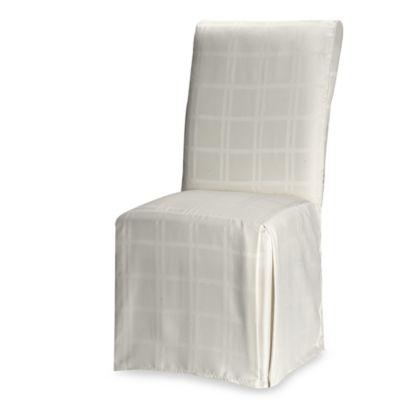 OriginsTM Microfiber Dining Room Chair Cover In Bone