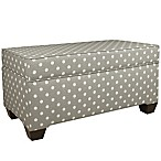 Skyline Furniture Storage Bench in Nova Birch/Ikat Dots