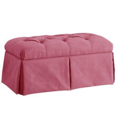 Superieur Skyline Furniture Skirted Storage Bench In Velvet Bling