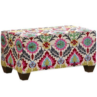 Skyline Furniture Storage Bench In Santa Maria Desert Flower