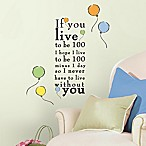 "RoomMates Winnie the Pooh ""Live to be 100"" Wall Decals"