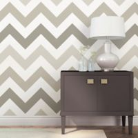 WallPops!® NuWallpaper™ ZigZag Peel & Stick Wallpaper in Taupe
