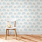 WallPops!® NuWallpaper™ Elephant Parade Peel & Stick Wallpaper in Blue