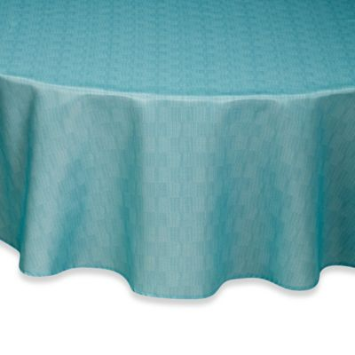 Captivating Mason 60 Inch X 84 Inch Oval Tablecloth In Aqua