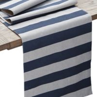 Coastal Chambray Stripe 90-Inch Table Runner
