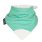 Cheeky Chompers® Neckerchew® Unistripe 2-in-1 Teething Bandana Bib in Lime/Turquoise Stripe