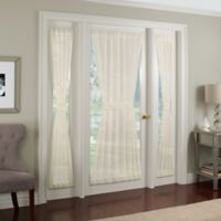 Crushed Voile Rod Pocket 40-Inch Side Light Window Curtain Panel in Ivory