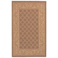 Couristan® Recife Garden Lattice 5-Foot 3-Inch x 7-Foot 6-Inch Indoor/Outdoor Rug Cocoa/Natural