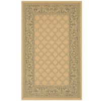Couristan® Recife Garden Lattice 8-Foot 6-Inch x 13-Foot Indoor/Outdoor Rug in Natural/Green