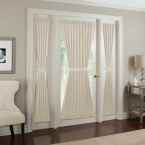 midtown rod pocket door panel bed bath beyond. Black Bedroom Furniture Sets. Home Design Ideas