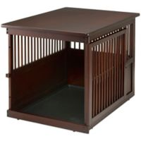 Richell Large Wooden End Table Crate