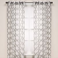 Admiral Penby 84-Inch Grommet Window Curtain Panels in Silver