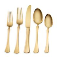 Skandia Refined 20-Piece Flatware Set in Gold