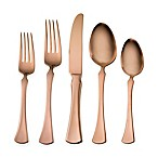 Skandia Refined 20-Piece Flatware Set in Copper