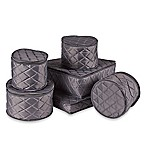 .ORG Quilted 6-Piece China Storage Set in Grey
