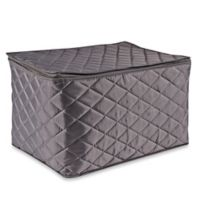 .ORG Quilted 3-Layer Stemware Saver in Grey