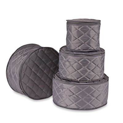 ORG Quilted 4-Piece Plate Case Set in Grey  sc 1 st  Bed Bath u0026 Beyond & Buy China Plate Storage Cases from Bed Bath u0026 Beyond