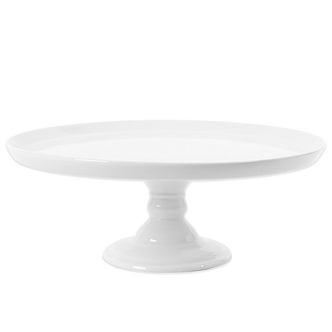 Everyday White 174 By Fitz And Floyd 174 Large Footed Cake Stand