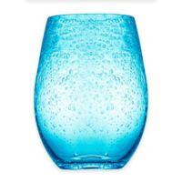 Artland® Iris Stemless Wine Glasses in Turquoise (Set of 4)