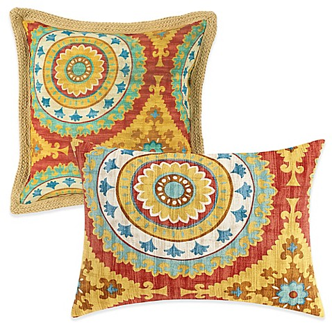 Bed Bath And Beyond Red Throw Pillows : Outdoor Throw Pillows in Sunset Red - Bed Bath & Beyond