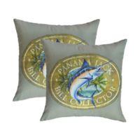 Panama Jack Bill Collector Outdoor Throw Pillows (Set of 2)