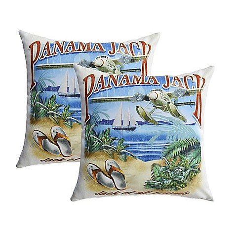 Panama Jack Quot Jack Of All Travels Quot Outdoor Throw Pillows