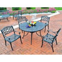 Crosley 5-Piece Sedona 42-Inch Outdoor Dining Set in Black