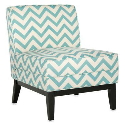 Safavieh Armond Zigzag Chair In Blue/White