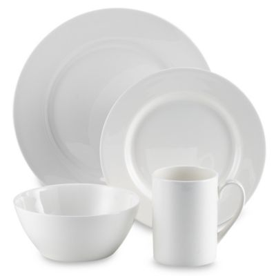 Tabletops Unlimited® Cascade Bone China 16 Piece Dinnerware Set