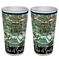 pubsOf. Sparta Michigan State University Pint Glasses (Set of 2)