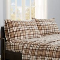 Premier Comfort Micro Fleece Twin Sheet Set in Tan Plaid