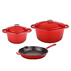 BergHOFF® Neo 5-Piece Cast Iron Cookware Set in Red