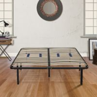 E-Rest Queen Wood & Metal Platform Bed Frame