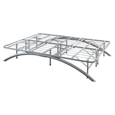 e rest queen arch metal platform bed frame in silver