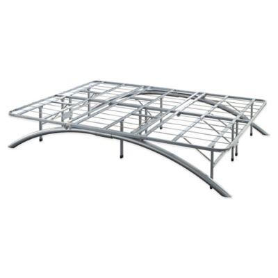 e rest king arch metal platform bed frame in silver - Metal Platform Bed Frame King