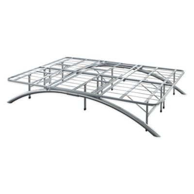 e rest california king arch metal platform bed frame in silver - California King Metal Bed Frame