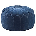 Madison Park Round Pouf Ottoman in Blue