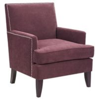 Madison Park Track Arm Club Chair in Purple