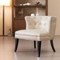Madison Park Shelter Slipper Chair in Ivory