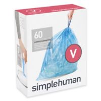 simplehuman® Code V 60-Pack 4.2-4.8-Gallon Custom Fit Recycling Liners