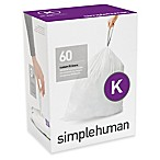 simplehuman® Code K 60-Pack 9-12-Gallon Custom Fit Liners