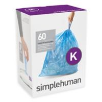 simplehuman® Code K 60-Pack 9-12-Gallon Custom Fit Recycling Liners