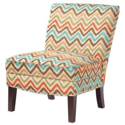 Madison Park Curved Back Slipper Chair In Orange Multi