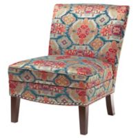 Madison Park Curved Back Slipper Chair in Red Multi